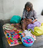 Old Thai Woman selling Toys Royalty Free Stock Images