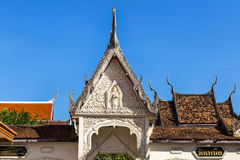 Old thai wooden temple Royalty Free Stock Photography
