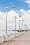 old Thailand Gray streetlamp Royalty Free Stock Photos