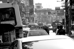 Old thailand traffic Royalty Free Stock Images
