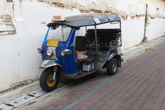 The old thailand tuktuk tricycle Stock Photo