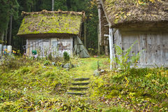 Old thatched huts Stock Photography