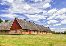 Old thatched roof barn Royalty Free Stock Photos