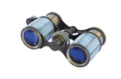 Old theater binoculars isolated on white background Royalty Free Stock Photography