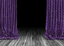 Old theater curtains background Royalty Free Stock Images