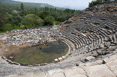 Old Theather in the ancient city. Around mugla Stock Image