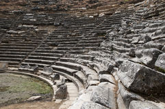 Old Theather in the ancient city. Around mugla Royalty Free Stock Images