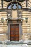 Old theatre doors in oxford stock photos