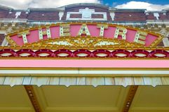 Old Theatre Marque. royalty free stock photos
