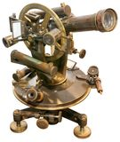 Old  Theodolite Cutout Royalty Free Stock Image