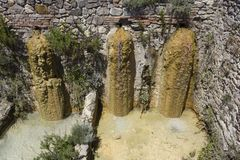 Old thermal baths of Bagno Vignoni i Royalty Free Stock Image