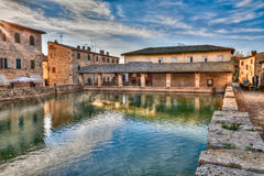 Old thermal baths in Bagno Vignoni, Tuscany, Italy Stock Photography