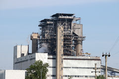 Old thermal power plant Royalty Free Stock Images