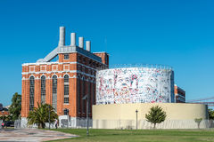 Old thermoelectric power-plant in Belem, Lisabon (Portugal) Royalty Free Stock Image
