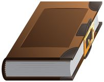 Old thick book with clasp Royalty Free Stock Photo