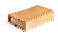 Old thick book on the white Stock Image