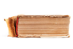 Old thick book on the white Royalty Free Stock Photo