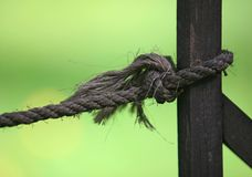 Old thick cord Royalty Free Stock Photo
