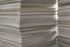 Old thick magazines. Two piles of thick old magazines, in beautiful illumination Royalty Free Stock Photography