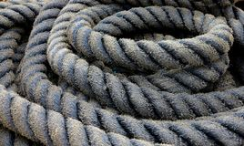 Old thick rope Stock Image
