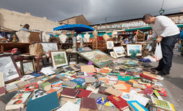 Old things at Flea market Stock Photography