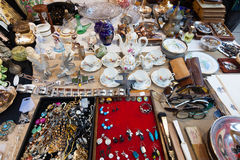 Old  things at flea market Royalty Free Stock Images