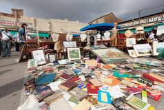 Old things at Flea market  in Barcelona, Spain Stock Images