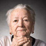 Old  thoughtful woman Royalty Free Stock Images