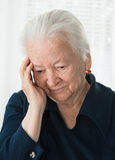 Old thoughtful woman Royalty Free Stock Photo