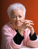 Old thoughtful woman Royalty Free Stock Photography
