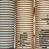 Old and threadbare plastic tubes Royalty Free Stock Photos