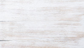 Old threadbare white painted wooden texture, wallpaper or background Stock Photography