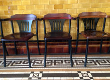 Old three chairs Royalty Free Stock Photos