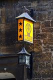 Old three star hotel sign, Chipping Campden. Stock Photography