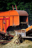 Old threshing machine Stock Photography