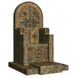 Old throne. 3D render of an old stone throne Stock Images