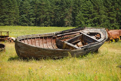 The old thrown boat Royalty Free Stock Images