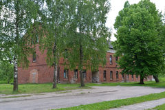 The old thrown building of the German construction in the city G Stock Photo