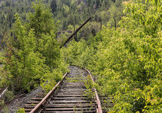 Old thrown railroad Royalty Free Stock Photo