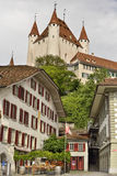 Old Thun Castle from city of Thun, Switzerland Royalty Free Stock Photos