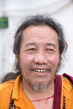 Old Tibetan Buddhist monk in the Dharamsala, India Stock Photos