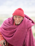 Old Tibetan Buddhist monk in Ladakh. India Royalty Free Stock Photography