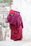 Old Tibetan Buddhist monk in Ladakh. India Royalty Free Stock Image