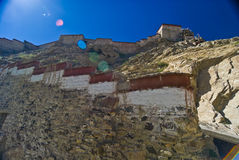 Old Tibetan Castle. A view of an old Tibetan castle / fortress on a mountain Stock Images