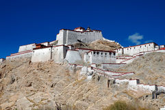 Old Tibetan Fort in Gyantse, Tibet. The Dzong (Old Fort ) in Gyantse of Tibet Stock Photography