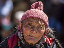 Old Tibetan Lady Stock Images