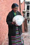 Old Tibetan Lady Royalty Free Stock Photos
