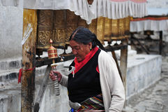 Old Tibetan Lady Stock Image