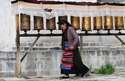 Old Tibetan Lady Stock Photography