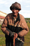 Old Tibetan man. In the west of sichuan province in china.  Shiqu country Royalty Free Stock Image